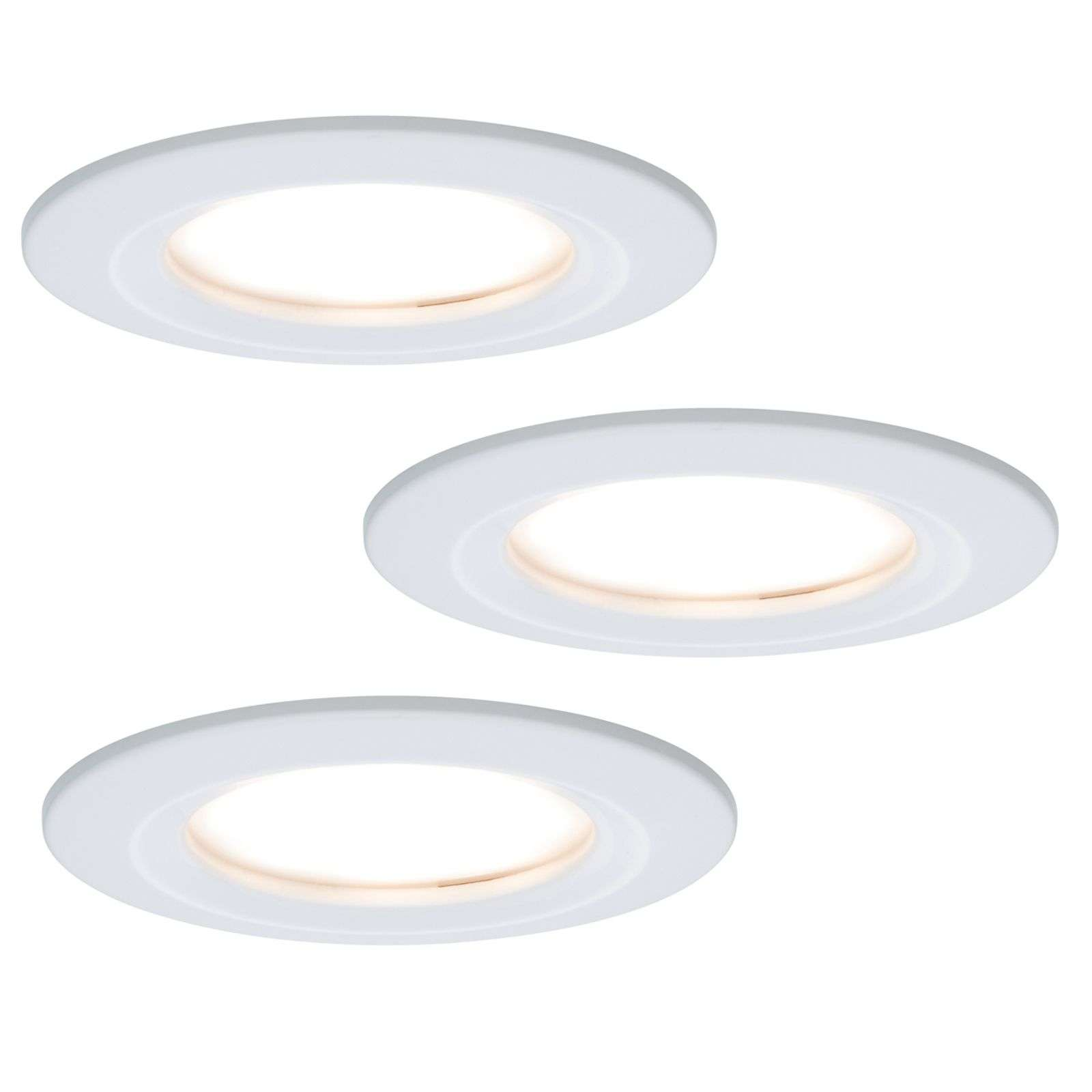 Set de 3 focos LED empotrables Coin Slim IP44