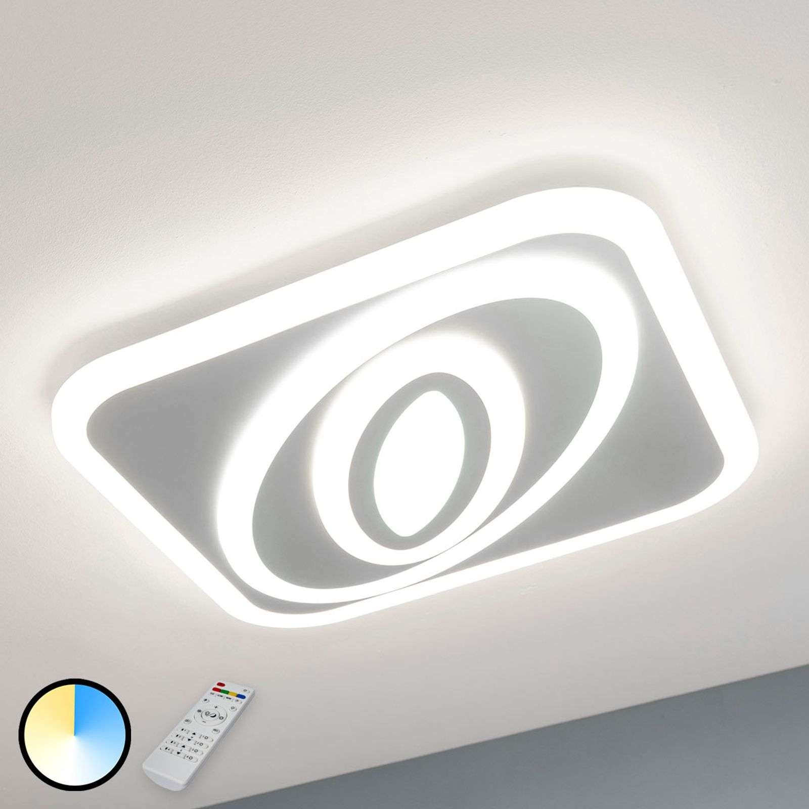 Plafón LED Magalie, color luminoso graduable