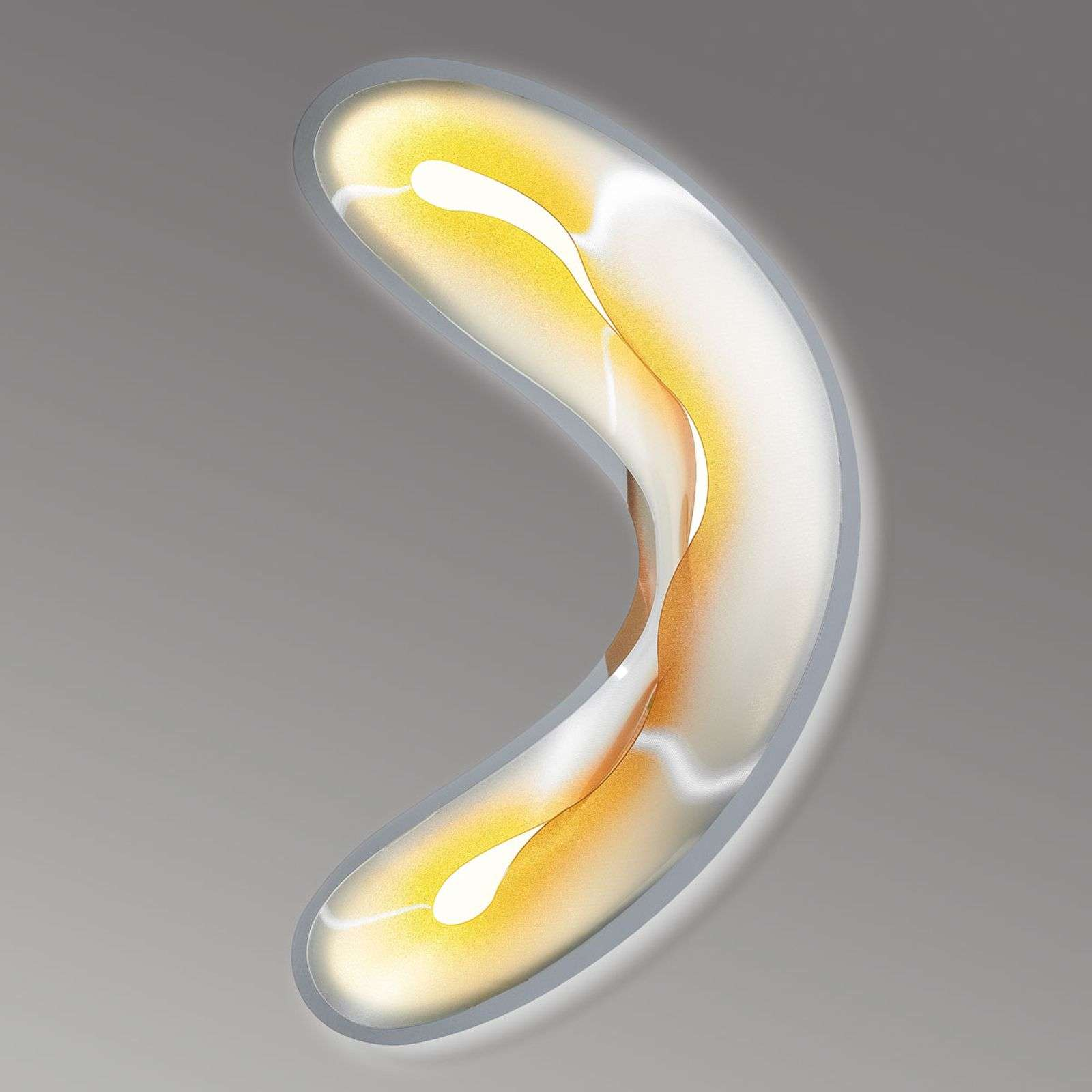 Slamp Crocco M - aplique LED, amarillo