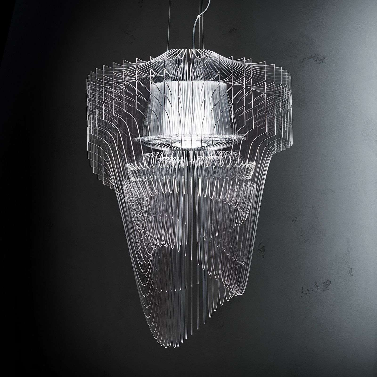 Slamp Aria lámpara colgante LED 75 cm transparente
