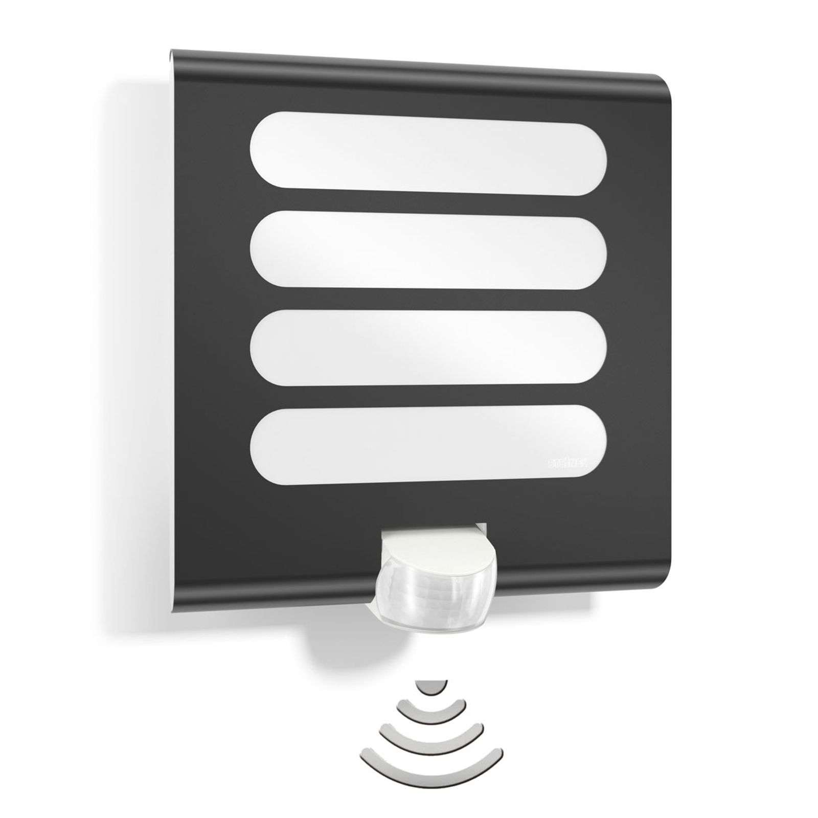 Lámpara de pared LED L224 con sensor, antracita
