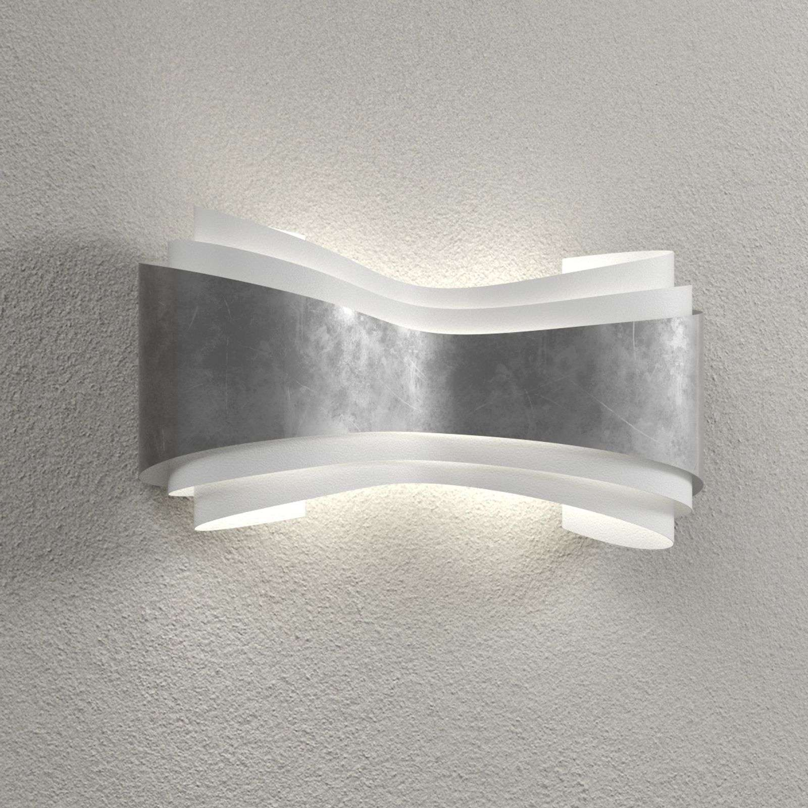 Ionica - lámpara de pared LED con pan de plata