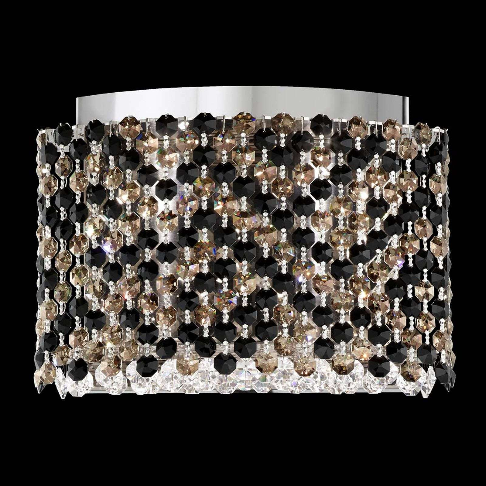 Lámpara de pared LED Refrax, cristales Swarovski