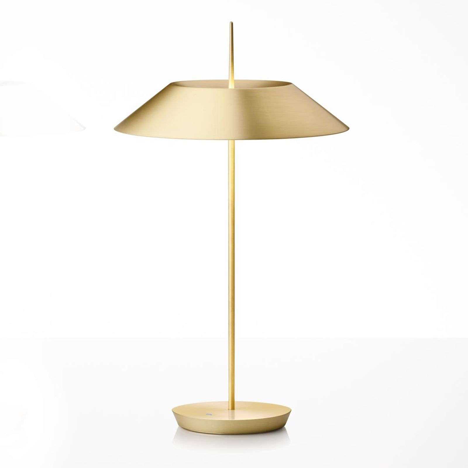 Vibia Mayfair lámpara LED de mesa, oro mate