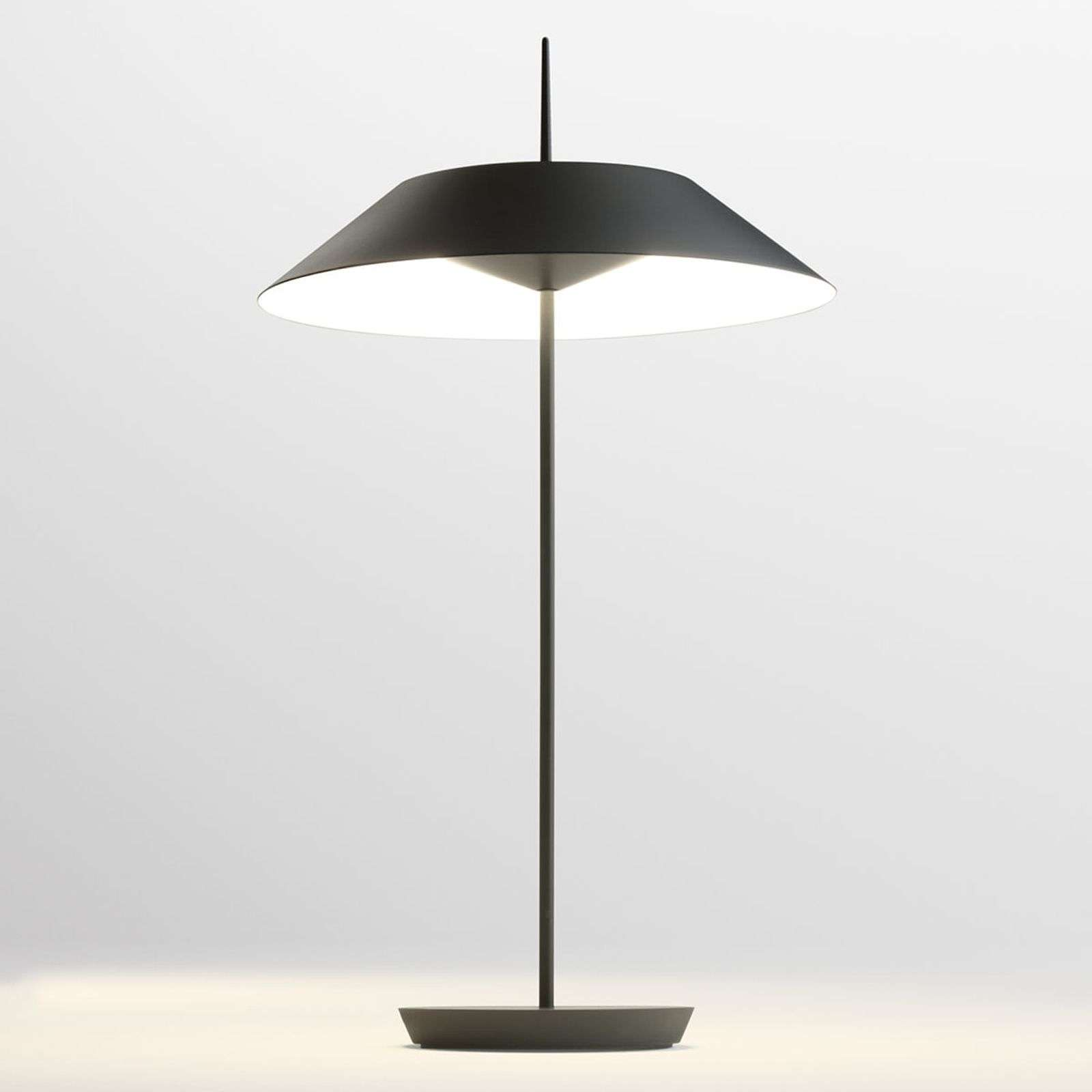 Vibia Mayfair lámpara LED de mesa, gris grafito