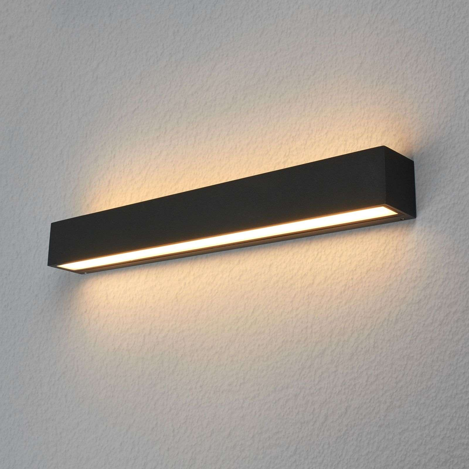 Aplique LED para exteriores Tuana rectangular