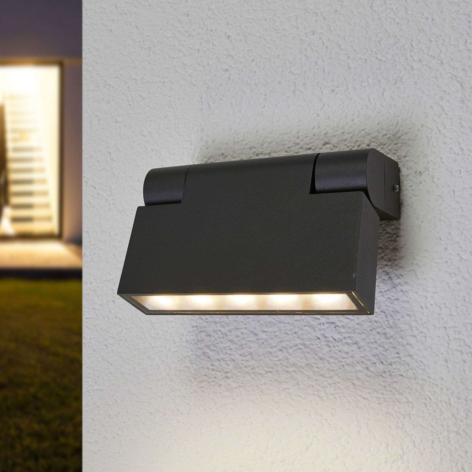 Aplique LED Jovan regulable para exterior