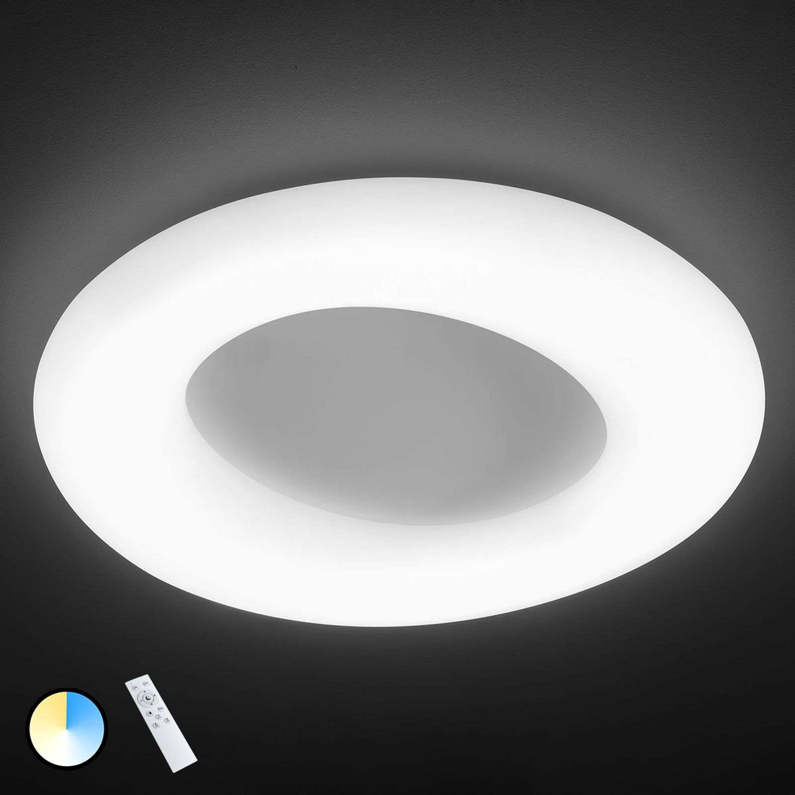 Lámpara LED de techo County ajustable, Ø 91 cm