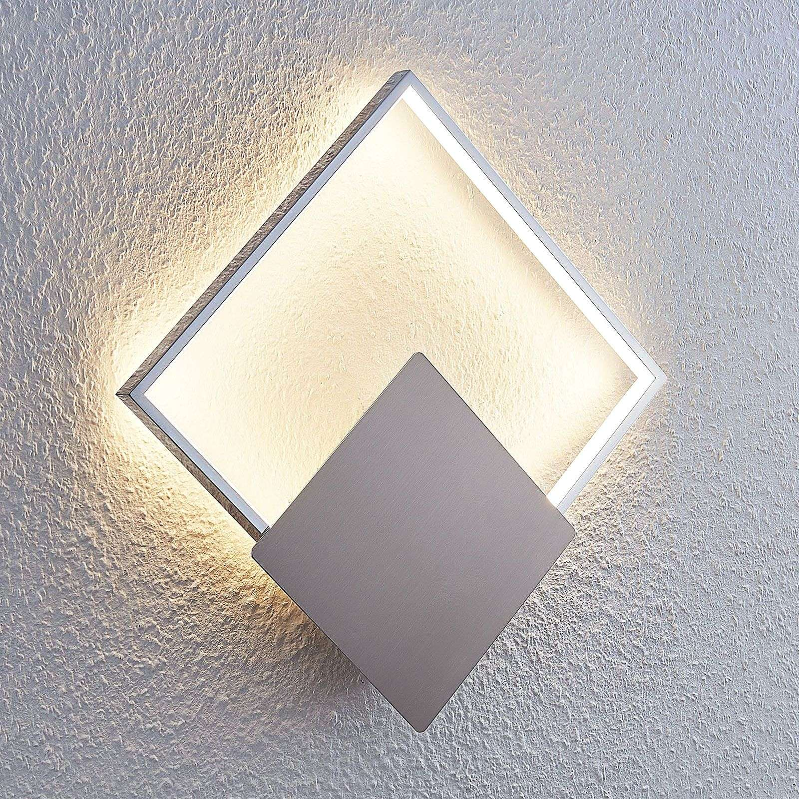 Lámpara de pared LED Anays, cuadrada, 32 cm