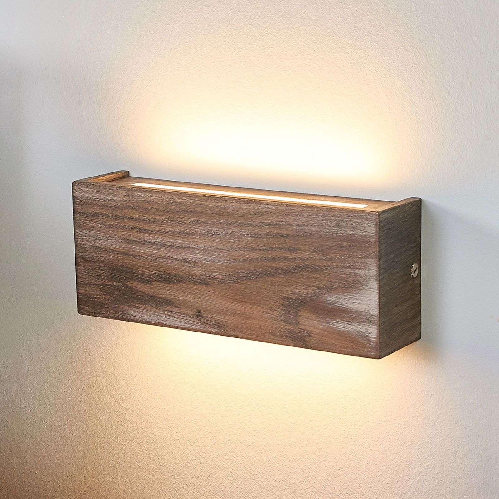 Lámpara de pared LED de madera Mila atenuable 25cm