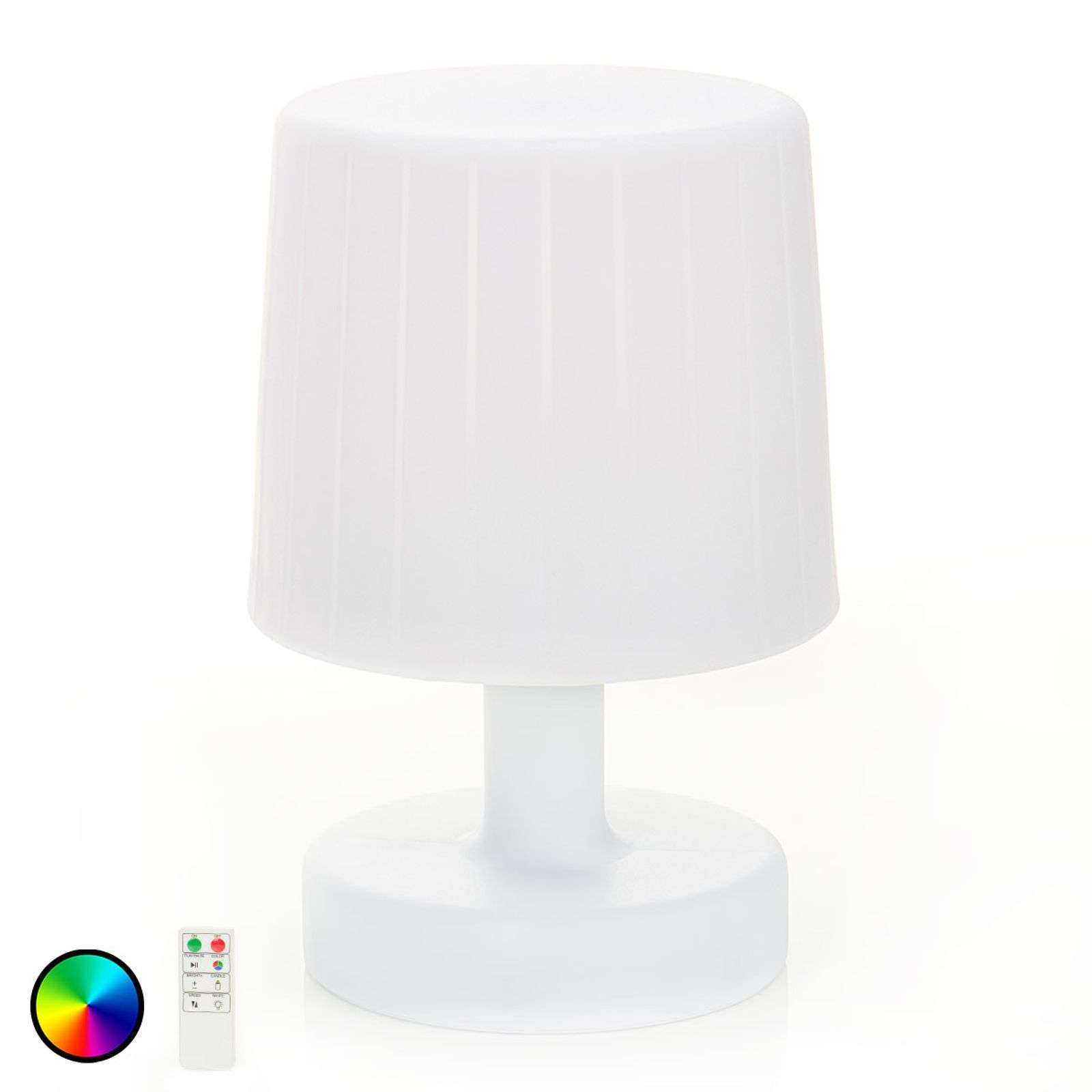 Lámpara de mesa LED Taimi exterior cambio de color