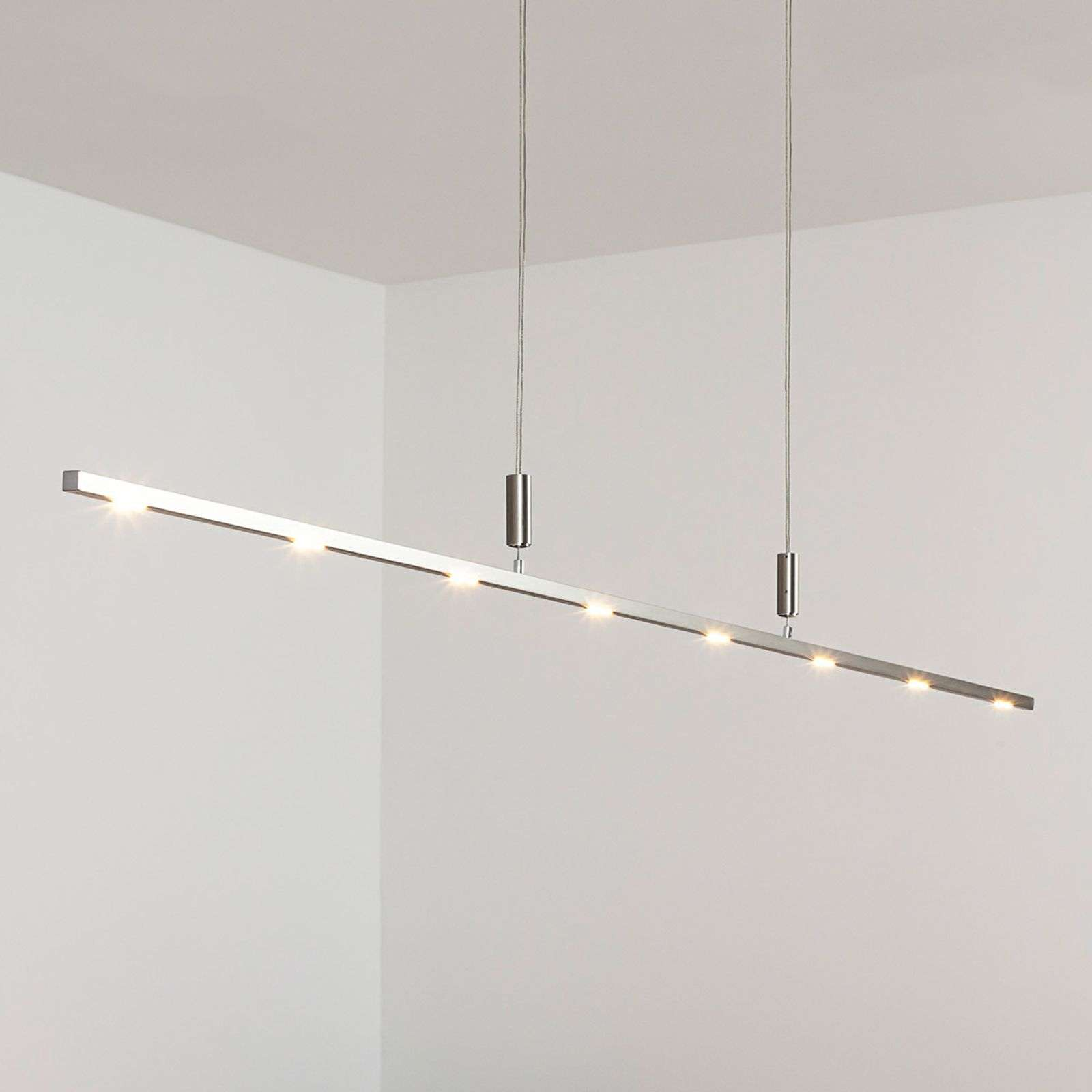 Lámpara LED suspendida Tolu 180 cm, intens. regul.