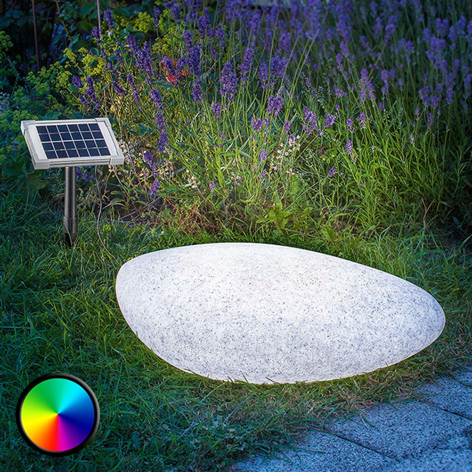 Lámpara solar LED decorativa para ext. Stone 40