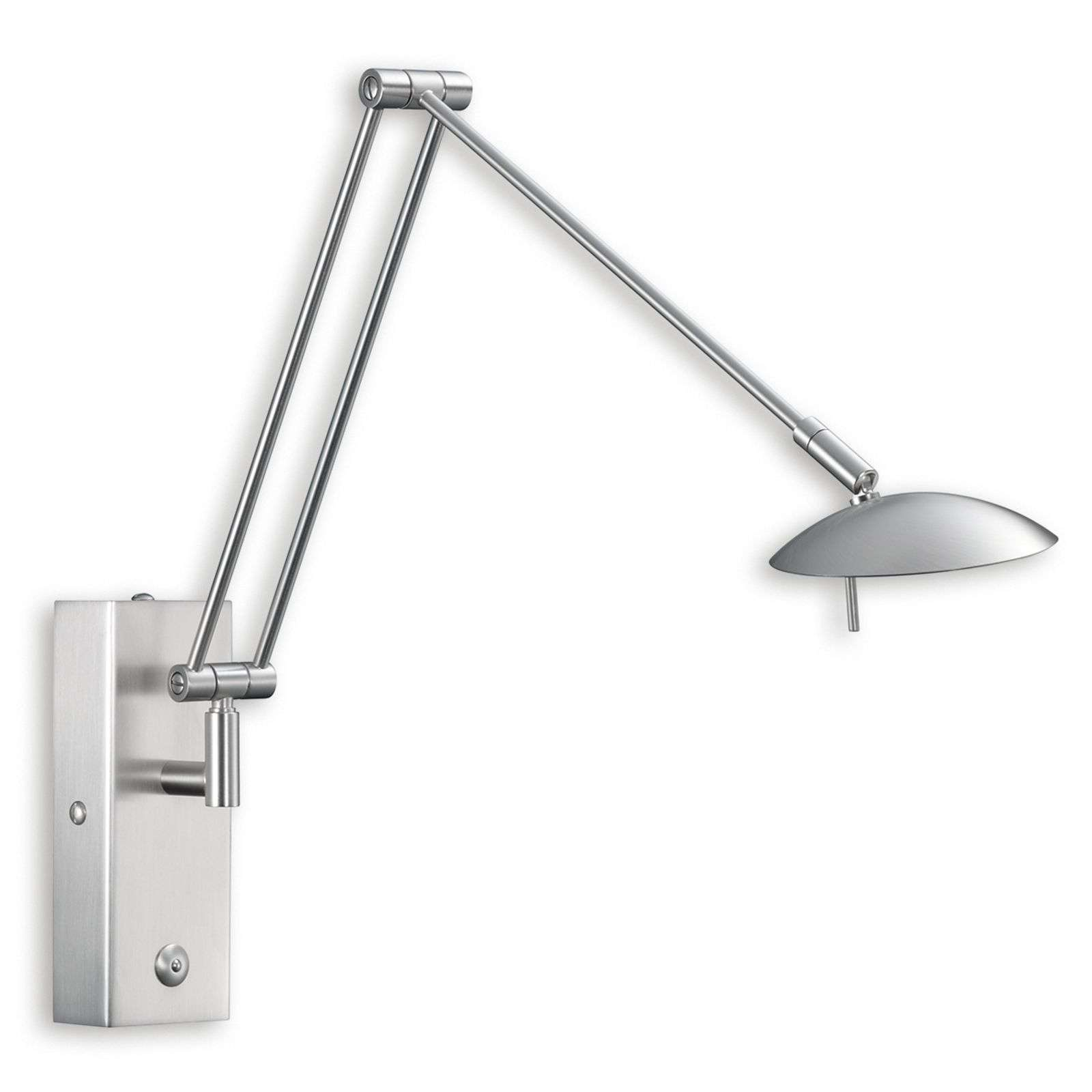 Lámpara de pared LED LINK flexible níquel mate