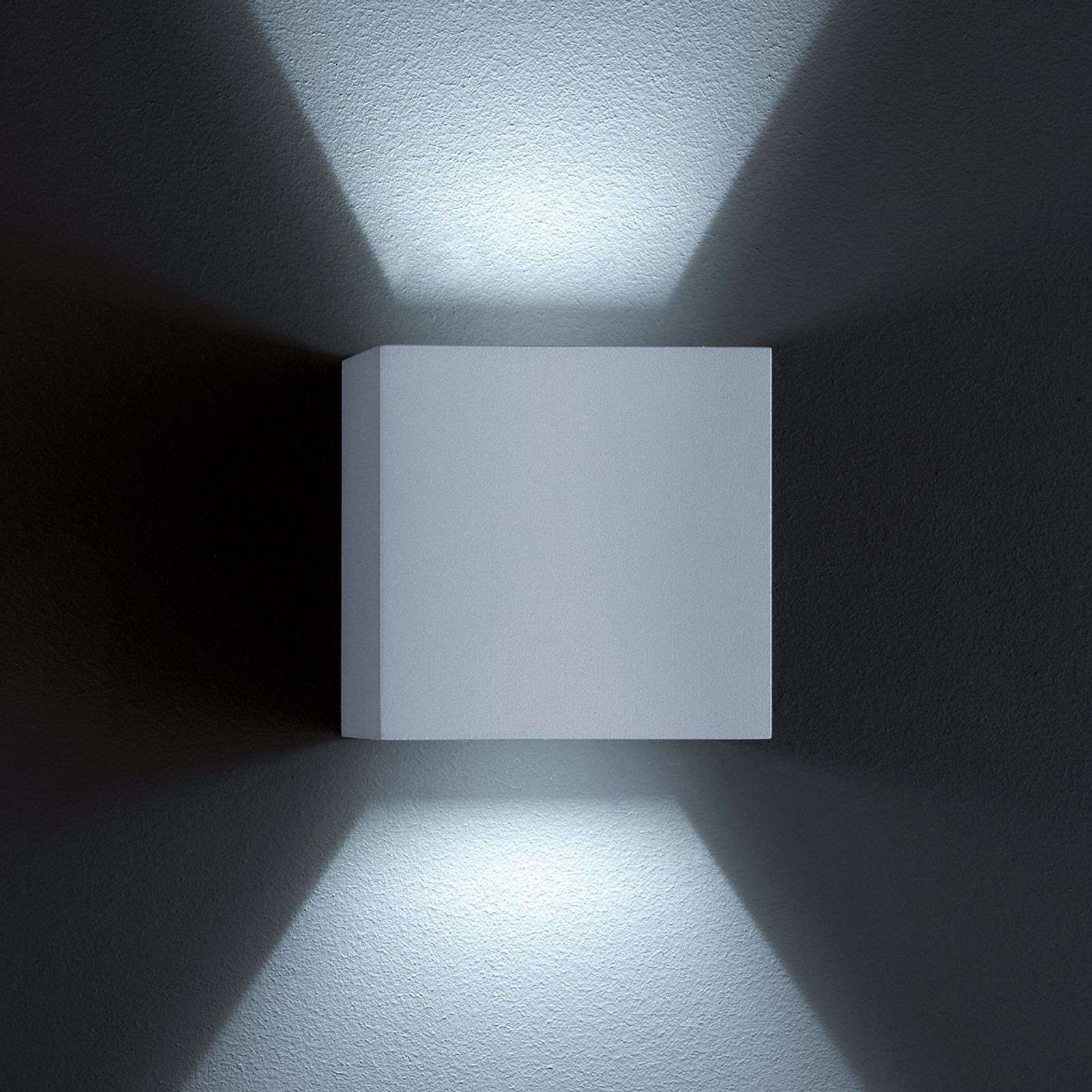 Aplique de pared exterior LED SIRI 44 gris plata