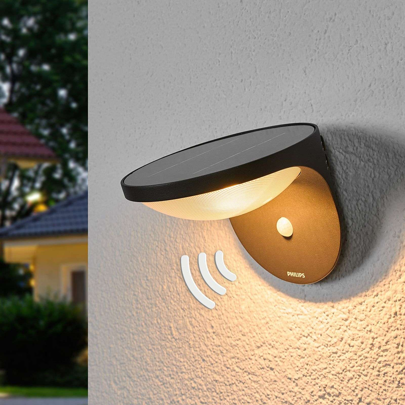 Aplique de pared ext. Dusk, LED y sensor de mov.