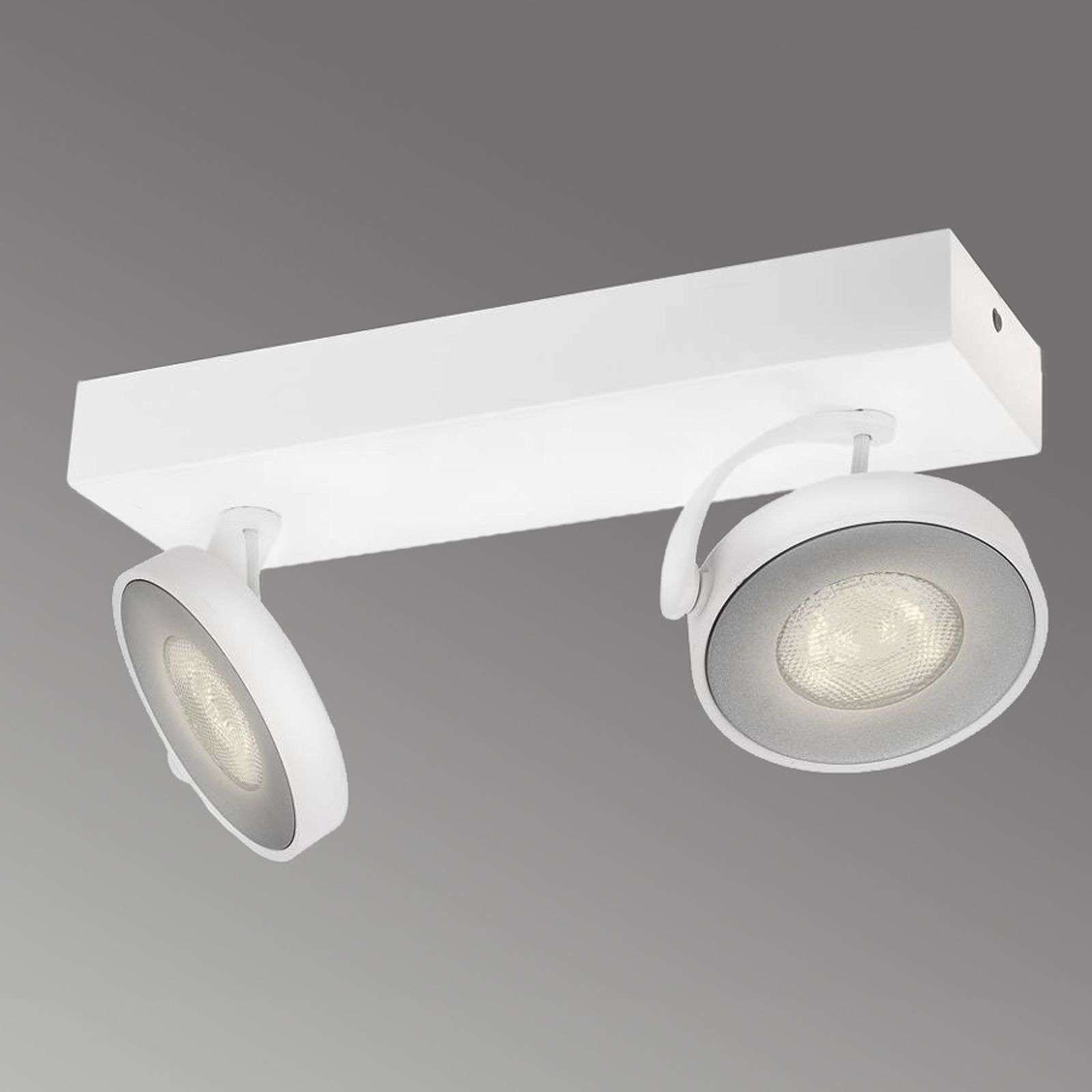 Foco LED Clockwork de 2 brazos en color blanco