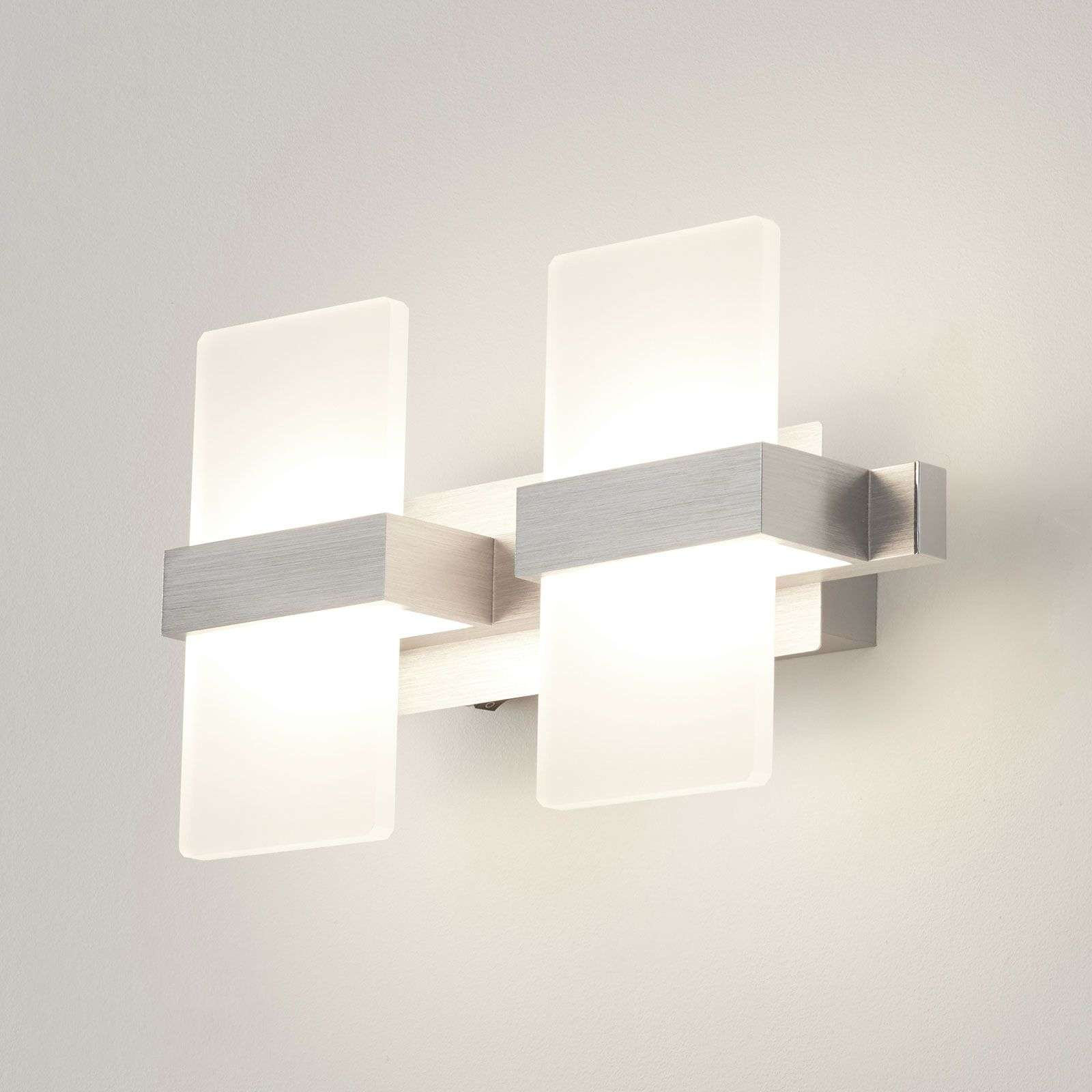 Lámpara de pared LED Platon moderna, 2 brazos