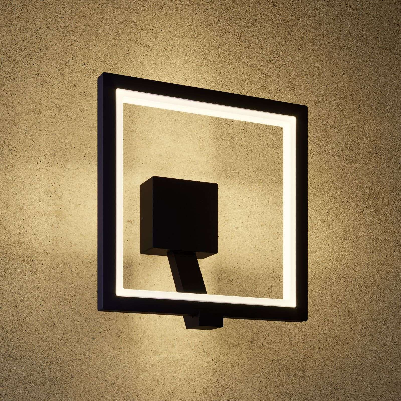 Aplique LED para exterior Square, gris grafito