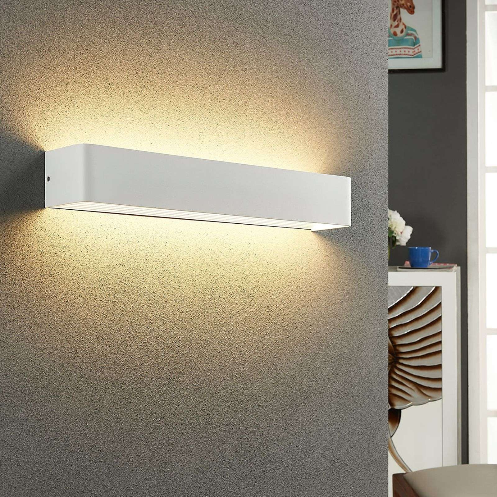 Lámpara de pared LED Lonisa de agradable luz