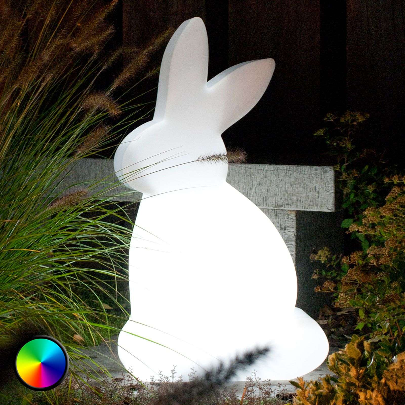 lámpara decor. LED Shining Rabbit para exterior