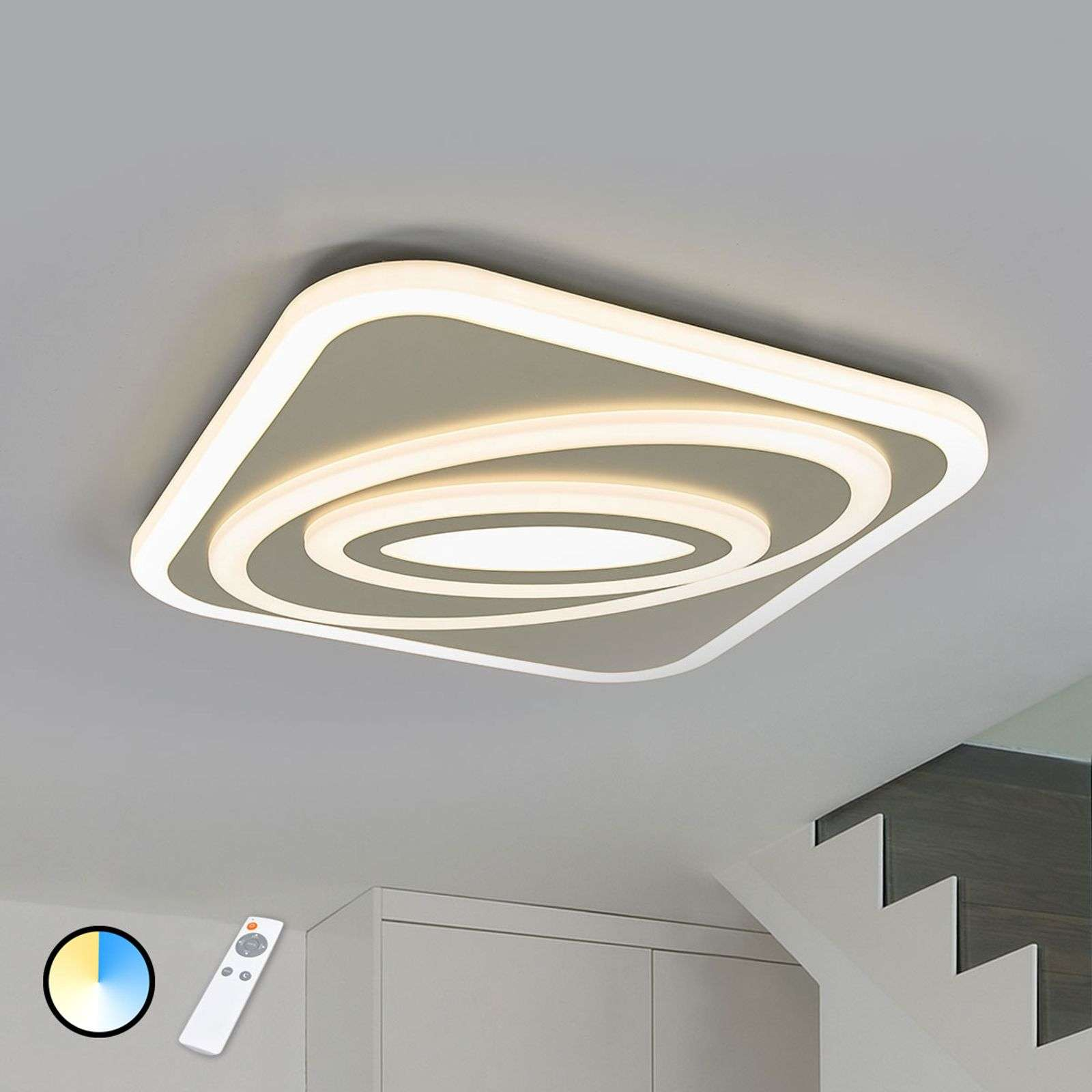 Plafón LED Magalie, color luminoso regulable