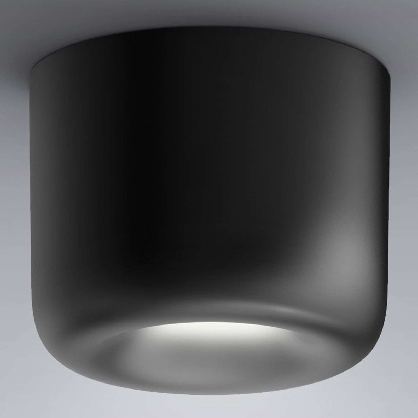 serien.lighting Cavity Ceiling L, negro