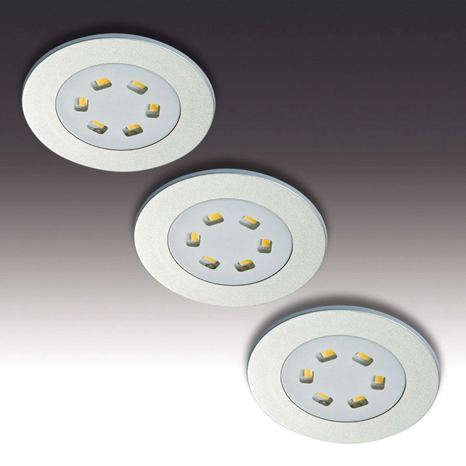 Lámpara LED empotrable R 55, set de 3 unidades
