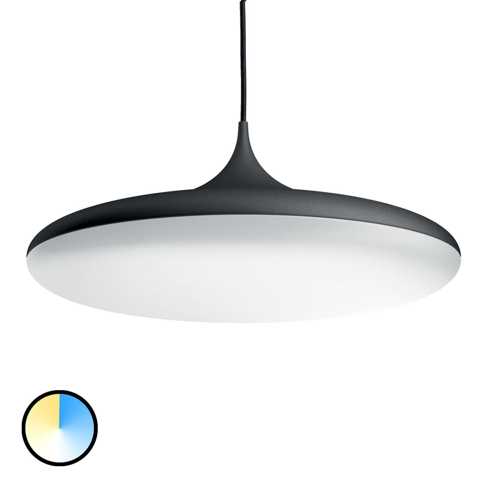 Lámpara colgante LED Cher Philips Hue, negro