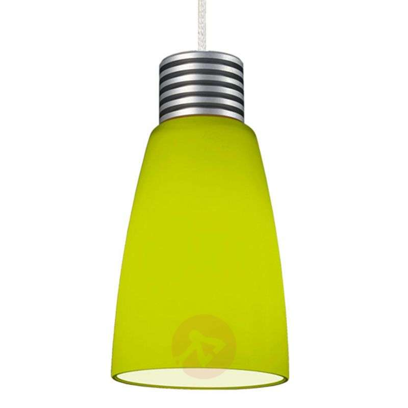 Image of Apple green glass hanging lamp IHN