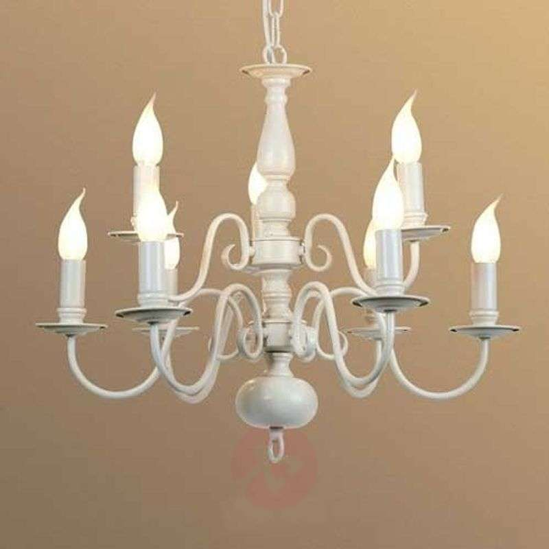 Image of 9-bulb MAYRA chandelier in a country house style
