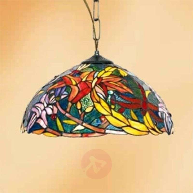 Image of Autumn-inspired hanging light Miley, Tiffany style
