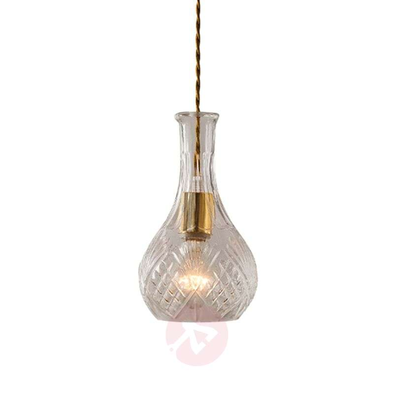 Image of Ioanna pendant light with cut glass