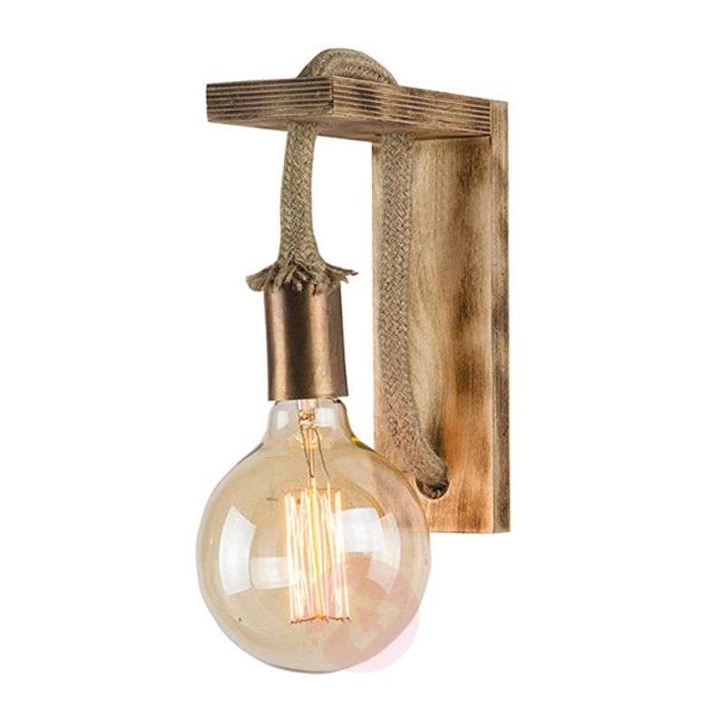 Image of Demis wooden wall light in vintage look