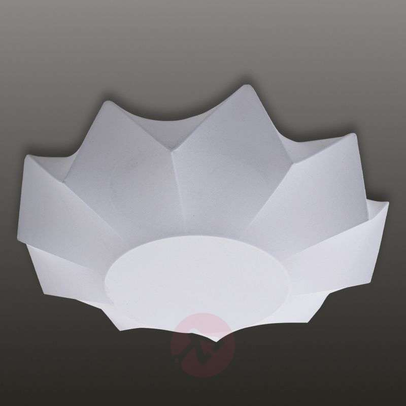 Image of Beautifully formed textile ceiling light Art 35 cm
