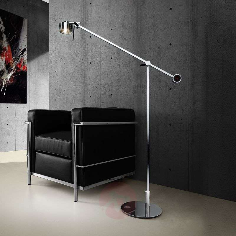 Image of Chrome-plated floor lamp AX20 with dimmer