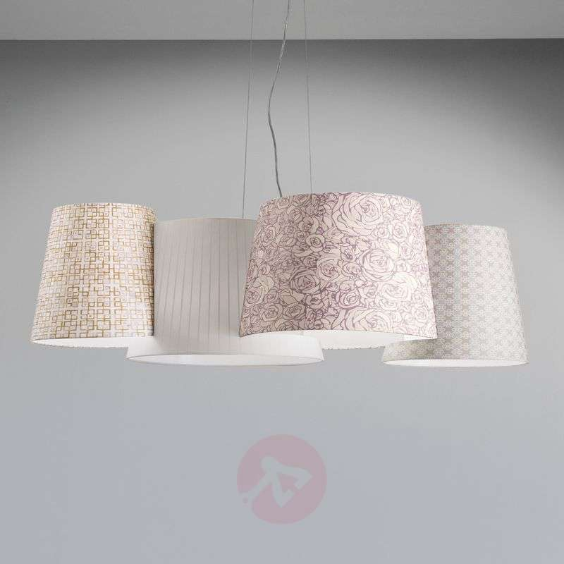 Image of Brightly-patterned pendant light Melting Pot
