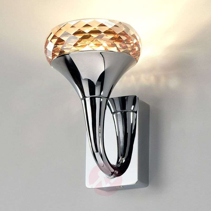 Image of Crystal designer LED wall light Fairy amber