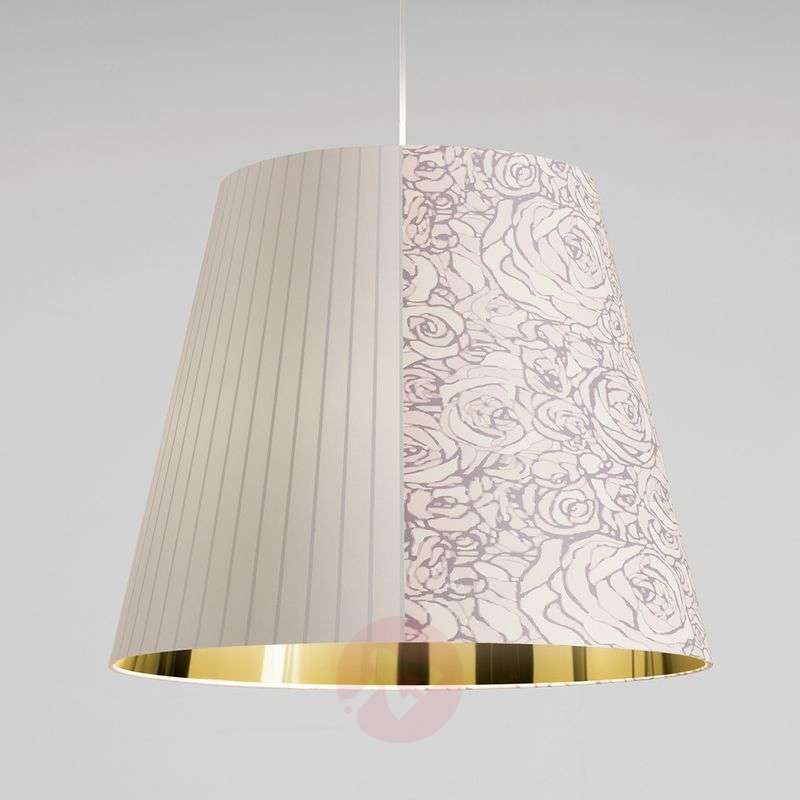 Image of Attractive white-gold hanging light Melting Pot
