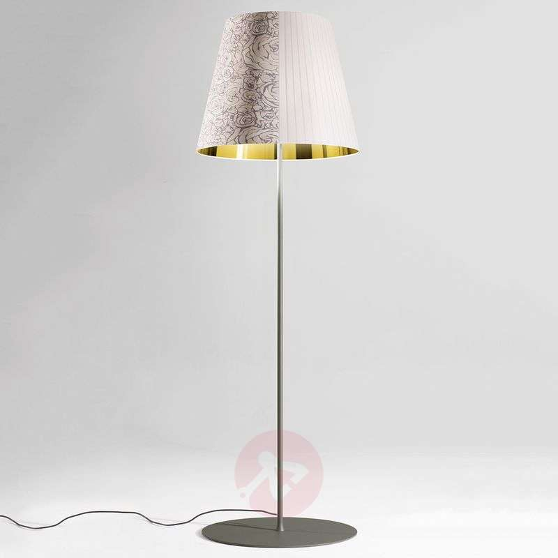 Image of Decorative floor lamp Melting Pot in white/gold