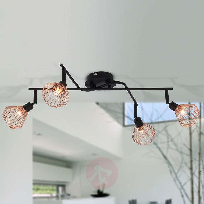 Image of 4-bulb Dalma ceiling light