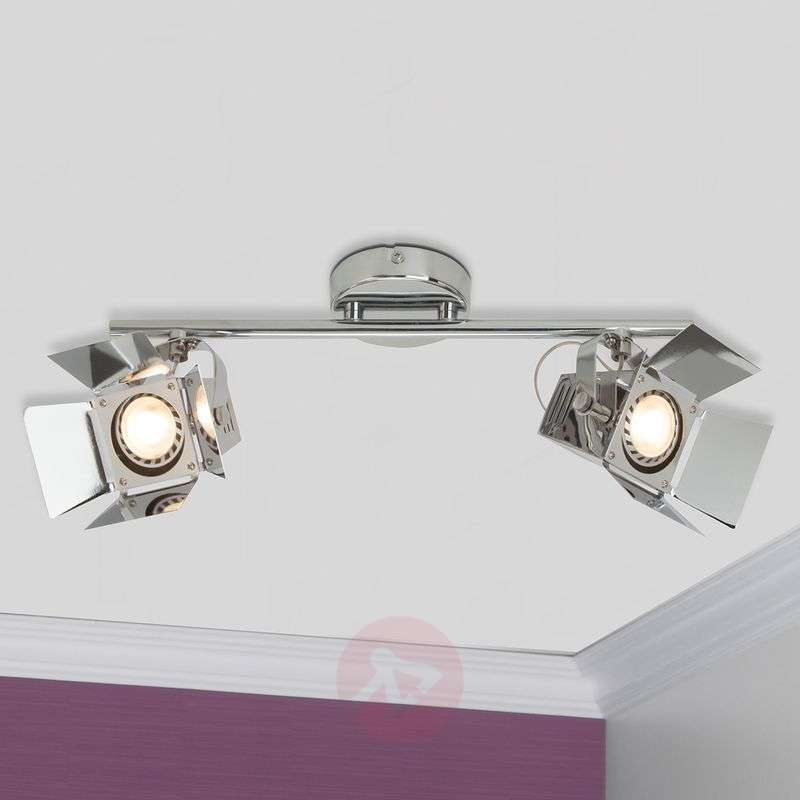 Image of 2-bulb LED spotlight ceiling light Movie, chrome