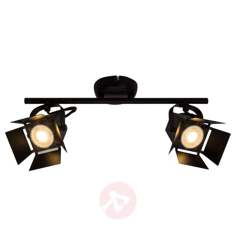 Image of 2-bulb LED spotlight ceiling light Movie, black