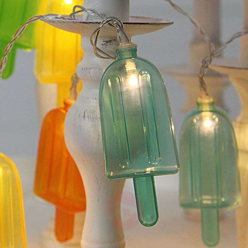 Image of 10-bulb party string lights Ice Lolly, LED