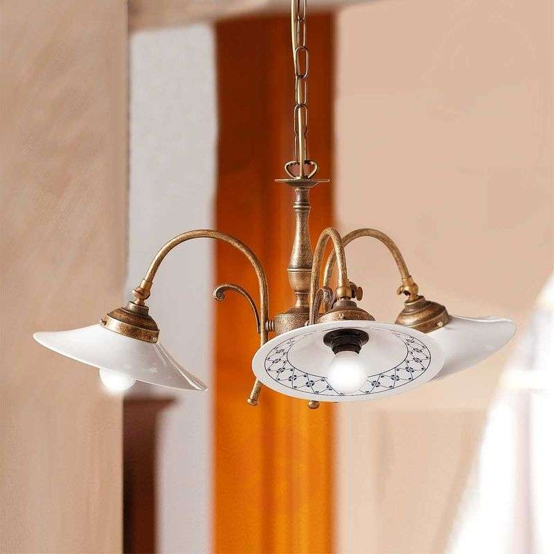Image of 3-bulb ORLO hanging light, rustical style