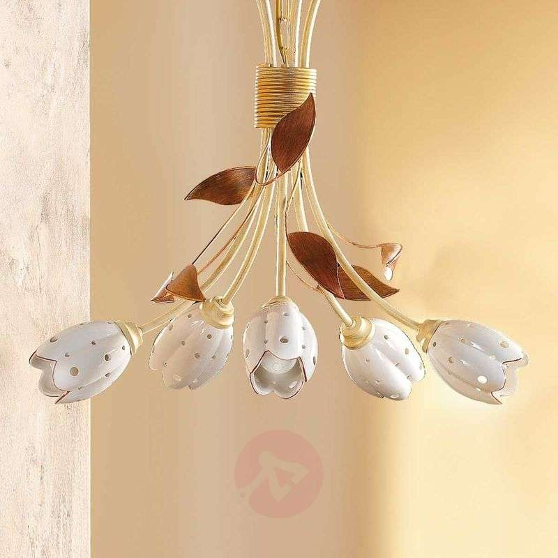 Image of 5-bulb floral TULIPANO hanging light