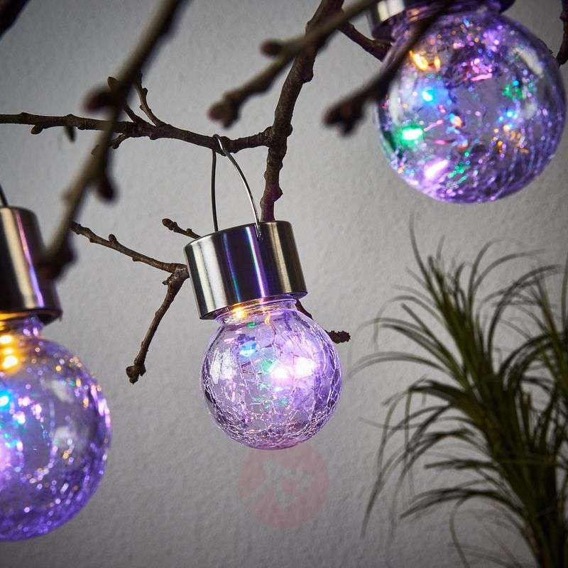 LED solar hanging lamp Colour Ball, set of 3 Review thumbnail