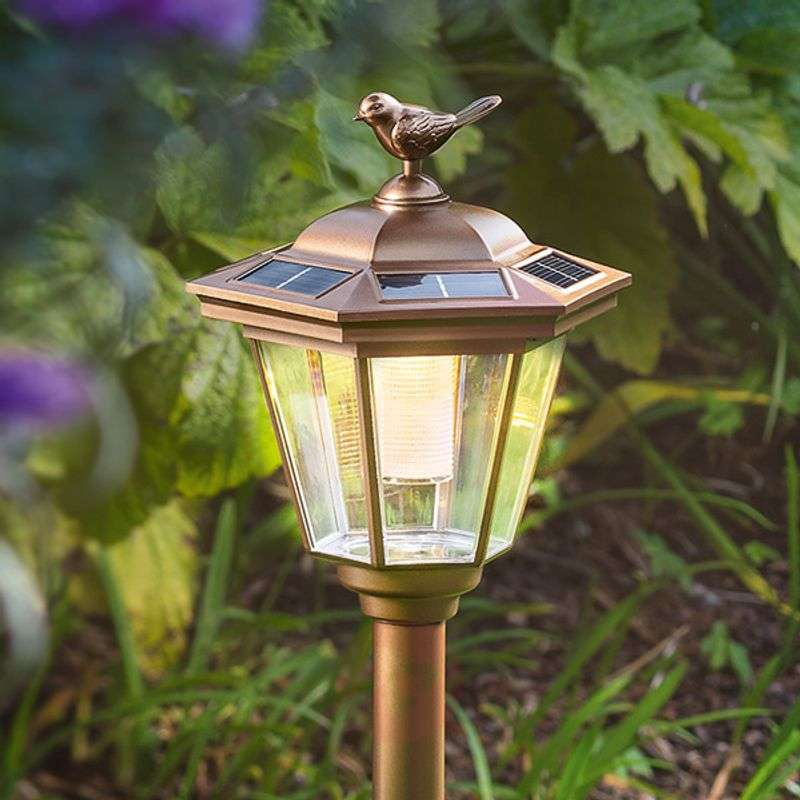 LED solar earth spike lamp Tivoli in copper look Review thumbnail
