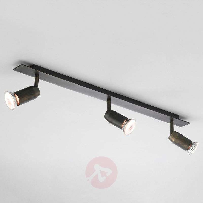 Image of 3-bulb halogen spotlight Magna Triple Bar