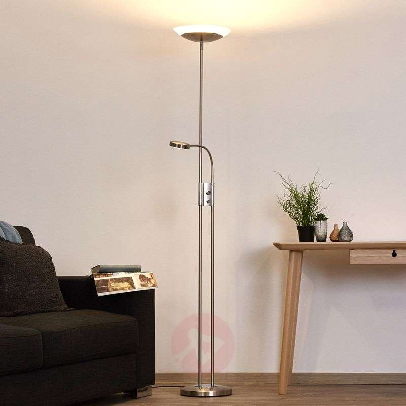 Olivia - dimmable LED uplighter with reading light